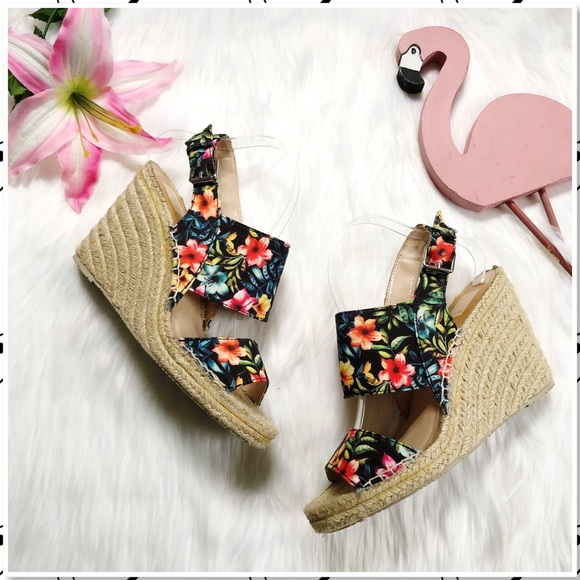 a112e02b764 Dolce Vita Shoes | Shady Floral Espadrille Wedge Sandal 10 | Poshmark